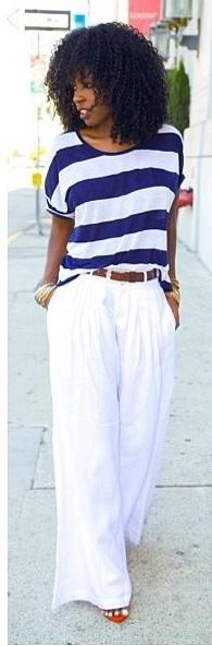 negra calça branca